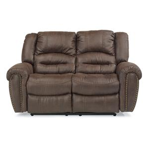 Transitional Reclining Love Seat