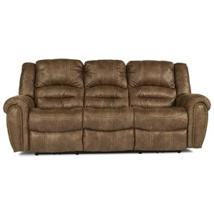 Transitional Reclining Sofa