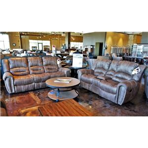 Transitional Power Double Reclining Sofa