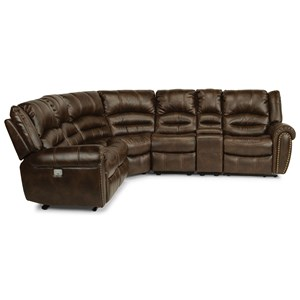 5 Piece Power Reclining Sectional with USB Ports