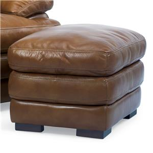 Double Top Leather Ottoman