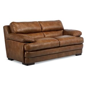 Leather Two Cushion Sofa