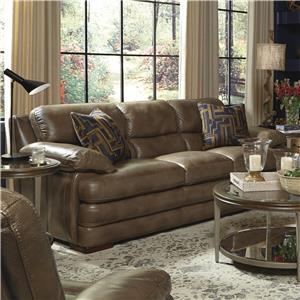 Flexsteel Latitudes - Dylan Stationary Leather Sofa