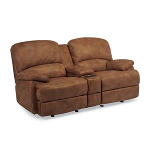 Power Reclining Love Seat with Center Console
