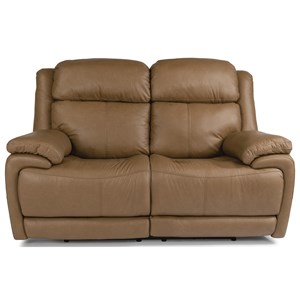 Contemporary Power Reclining Loveseat with Power Headrest and Lumbar