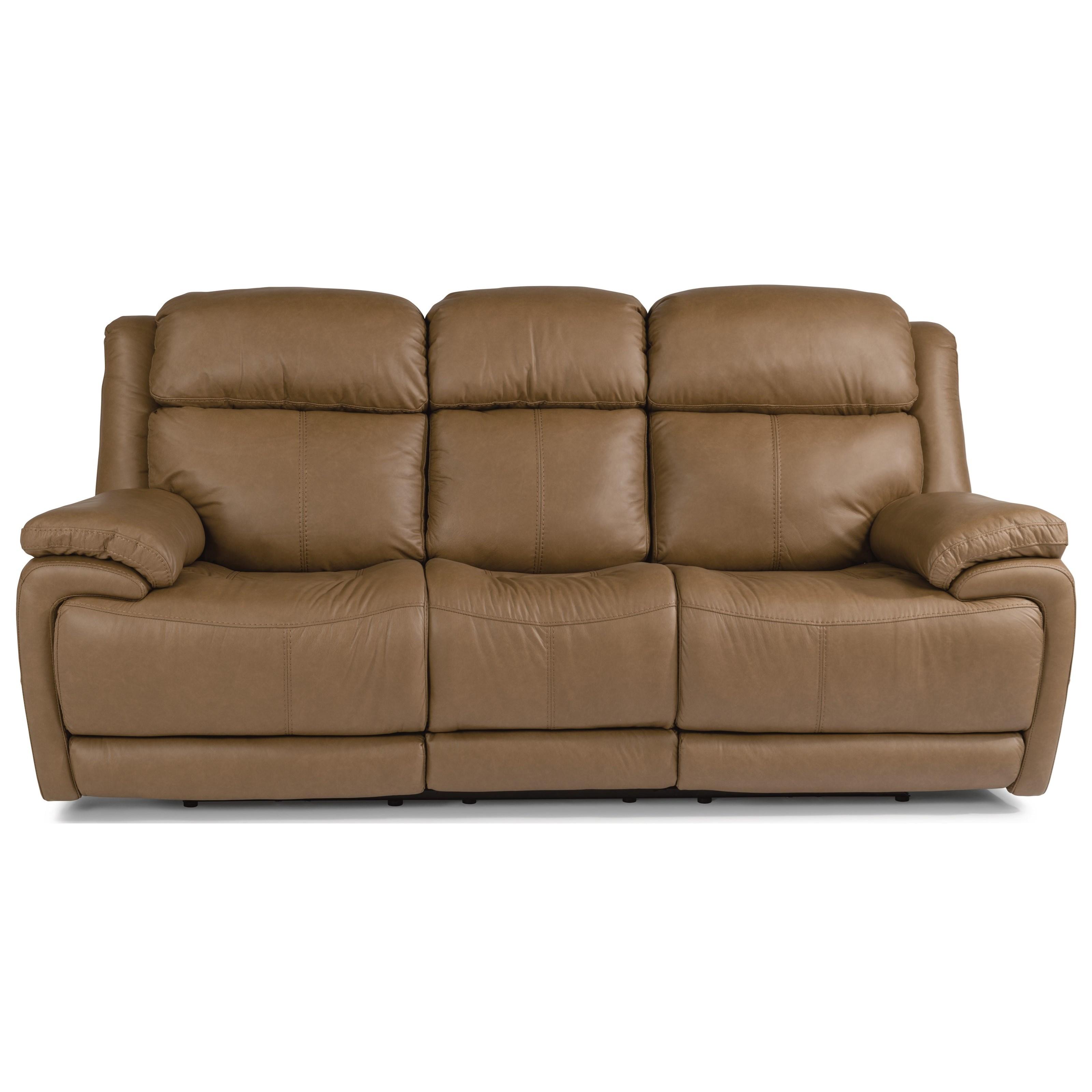 Latitudes - Elijah Power Reclining Sofa With Power Headrest by Flexsteel at Walker's Furniture
