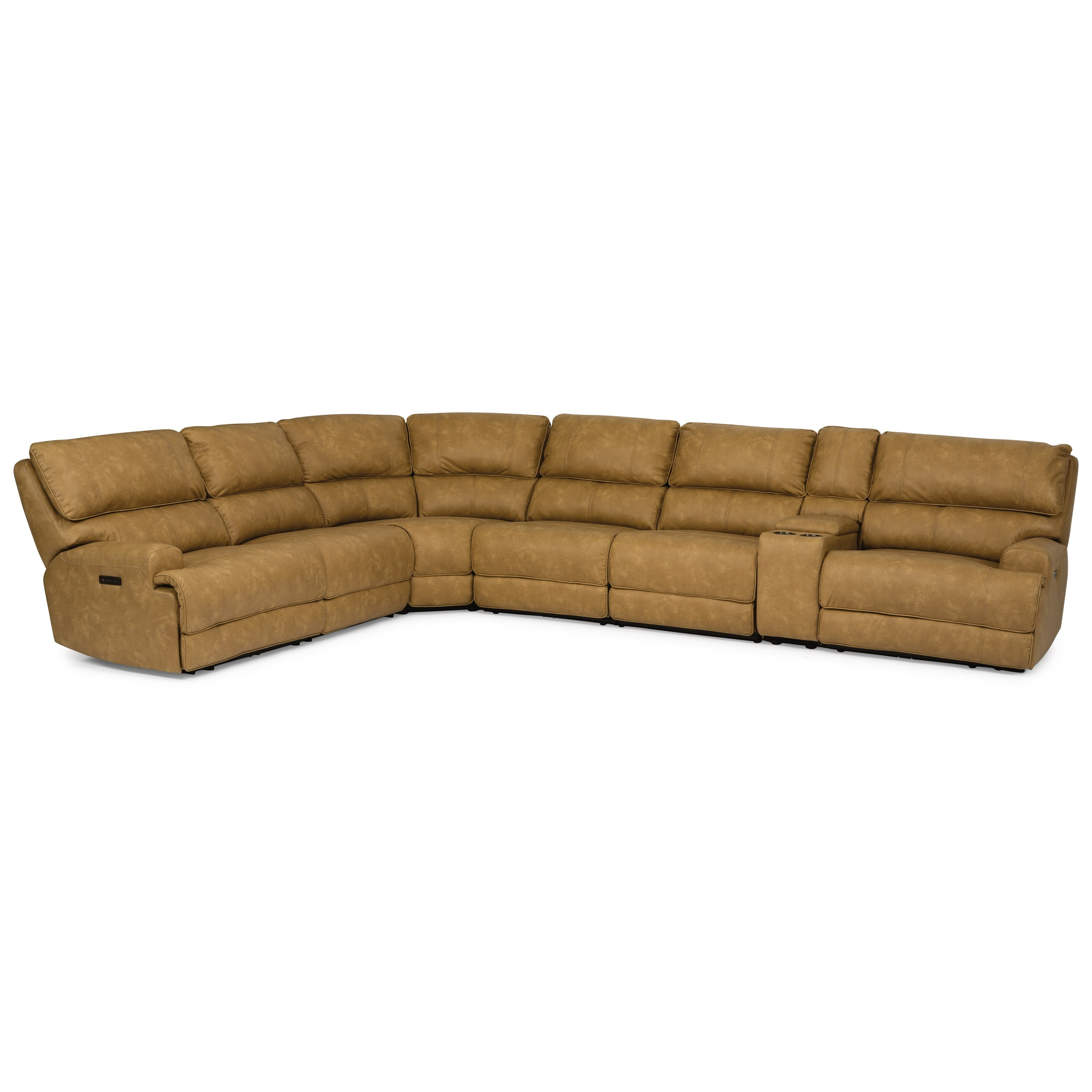 Latitudes - Floyd 7-Piece Power Sectional by Flexsteel at Walker's Furniture