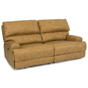 Power Reclining Modular Loveseat with Power Headersts and USB Ports