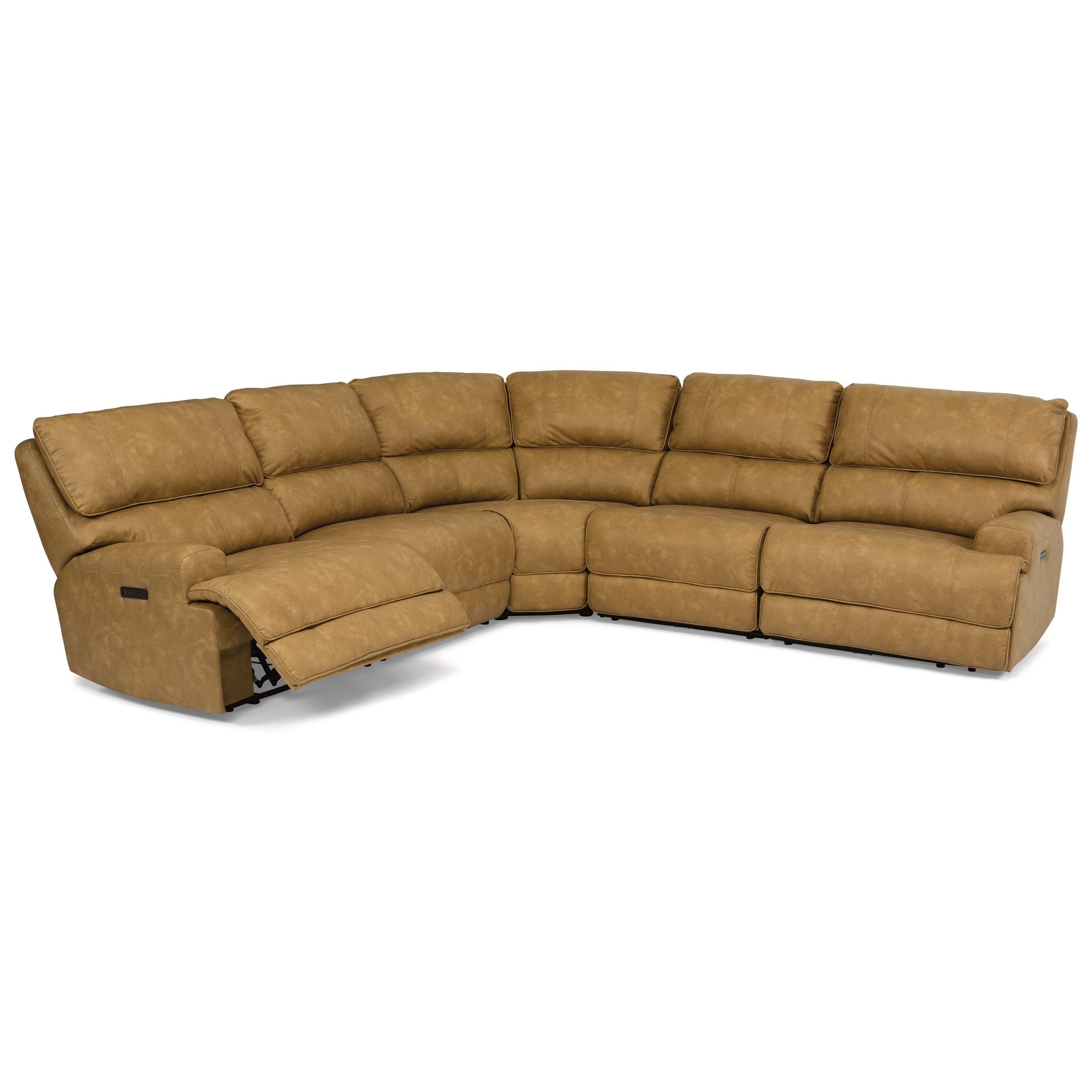 Latitudes - Floyd 5-Piece Power Sectional by Flexsteel at Walker's Furniture