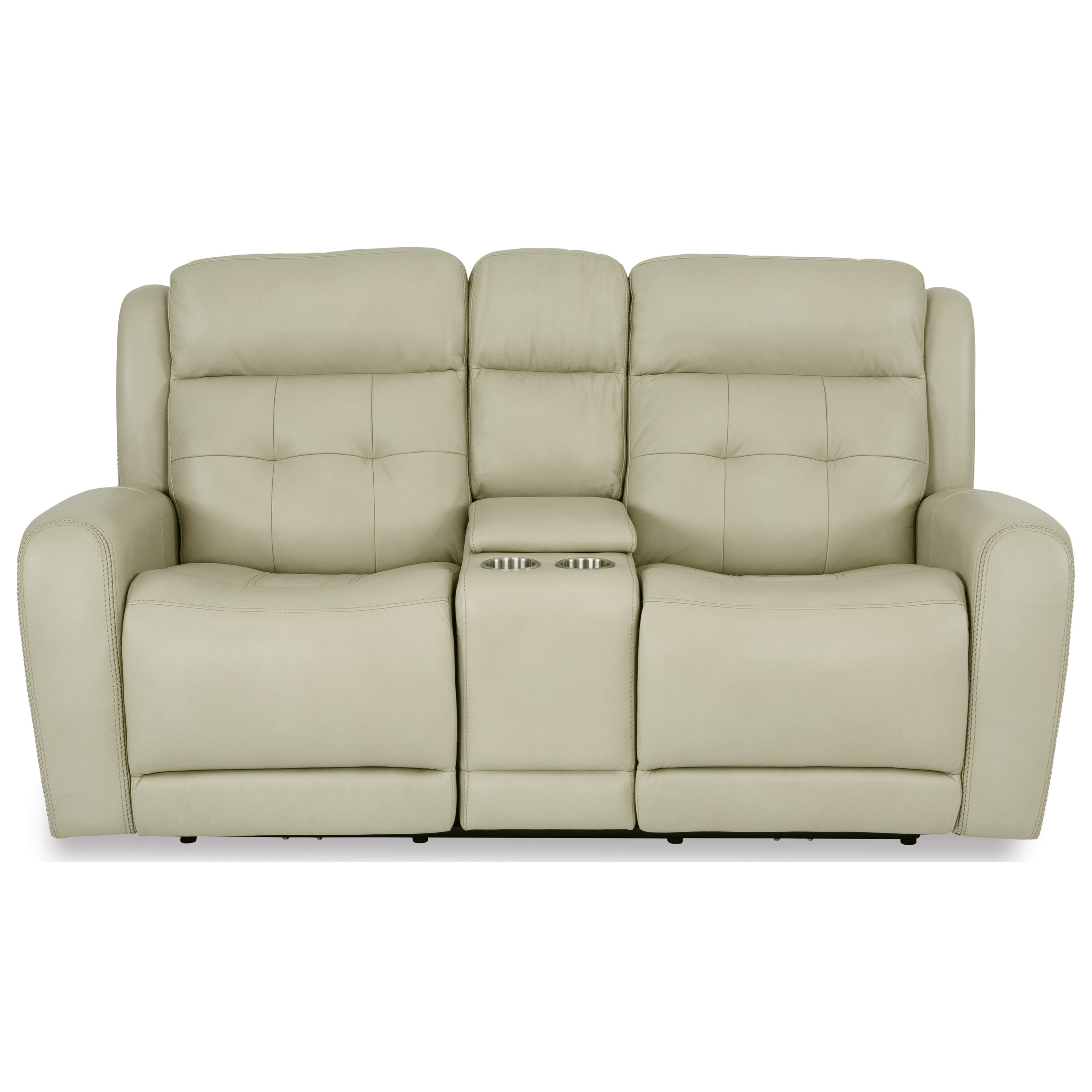 Latitudes - Grant Power Reclining Console Loveseat by Flexsteel at Crowley Furniture & Mattress