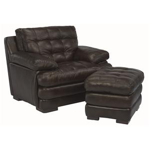 Flexsteel Latitudes - Jacob Oversized Chair and Ottoman