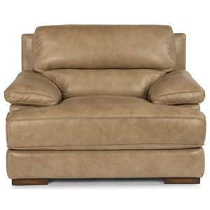 Casual Contemporary Leather Chair