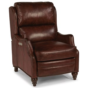 Traditional Power High-Leg Recliner with Power Headrests