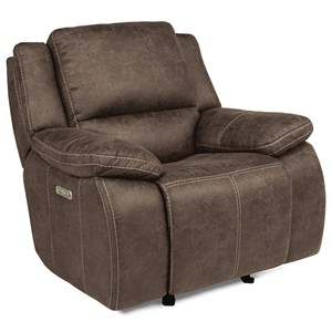 Casual Power Gliding Recliner with Power Headrest