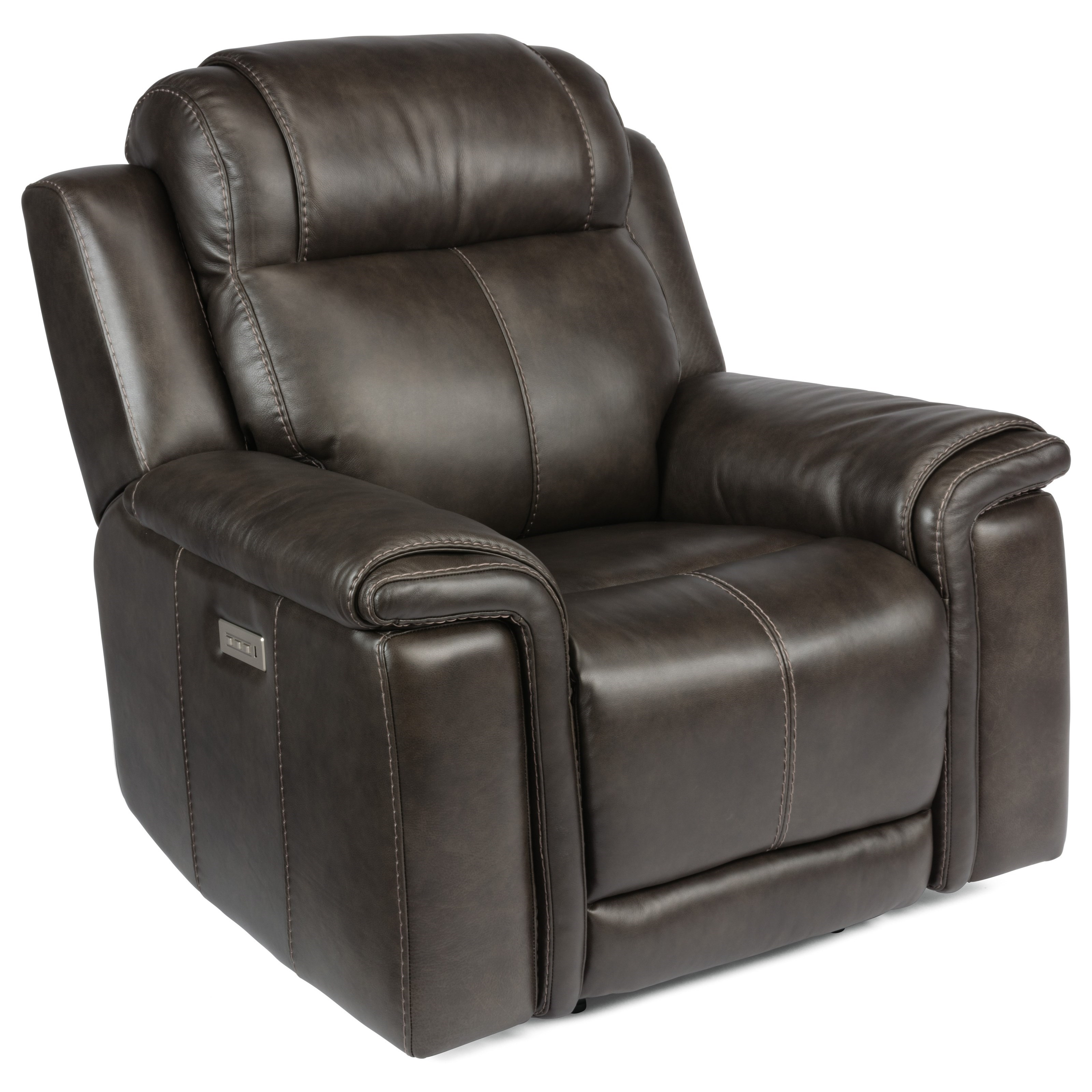 Latitudes - Kingsley Lay-Flat Power Recliner by Flexsteel at Walker's Furniture