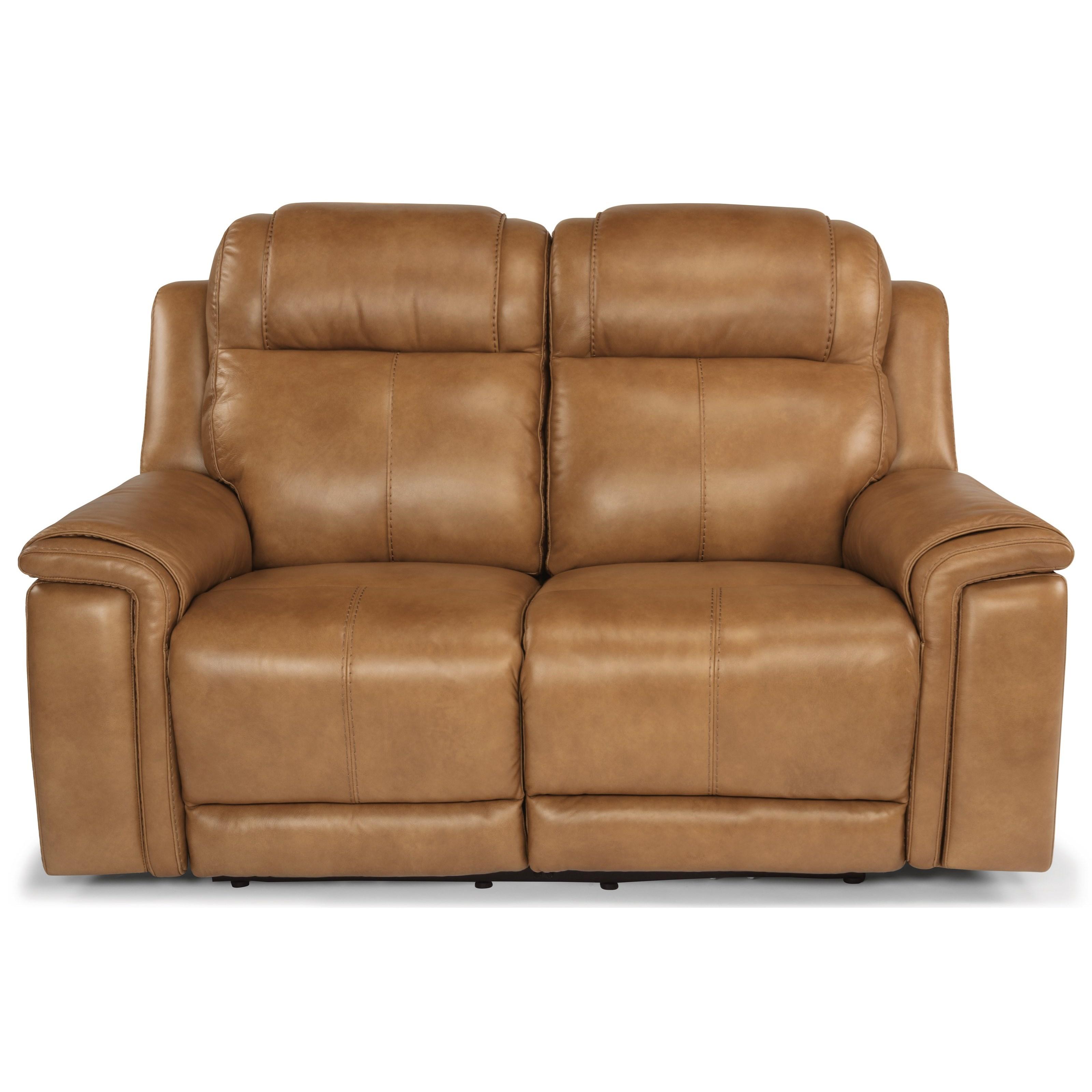 Latitudes - Kingsley Lay-Flat Power Reclining Loveseat by Flexsteel at Mueller Furniture