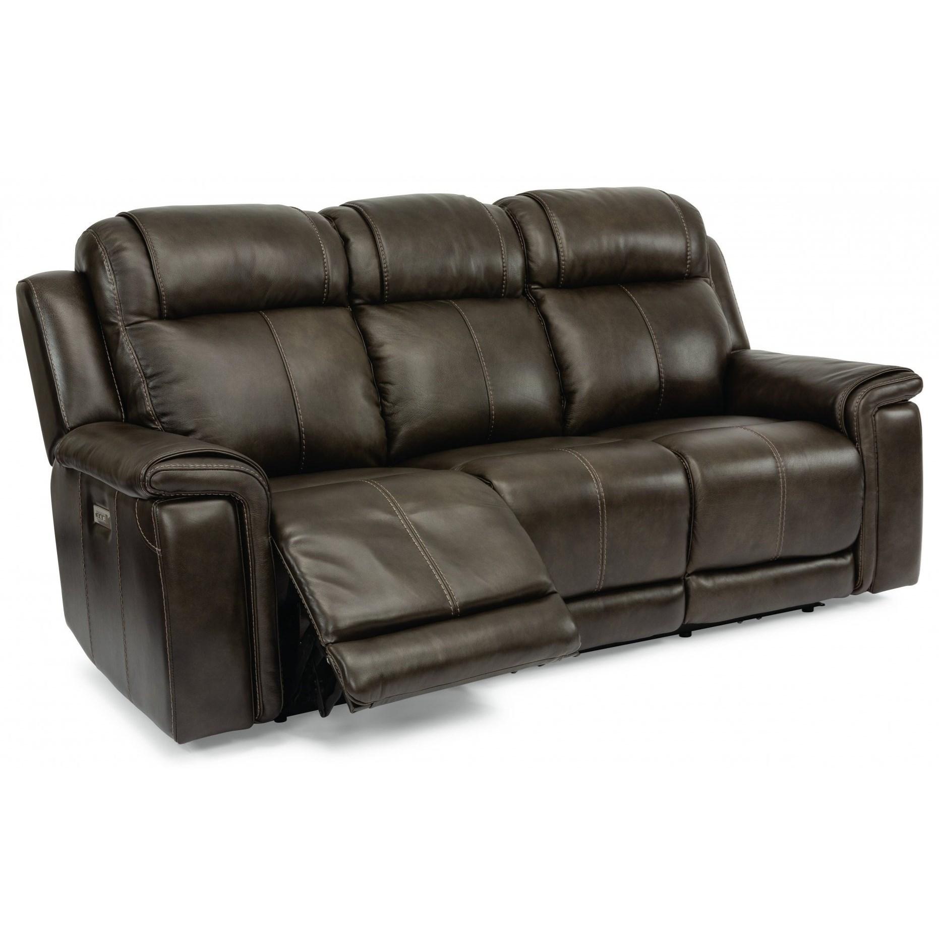 Latitudes - Kingsley Lay-Flat Power Reclining Sofa by Flexsteel at Walker's Furniture