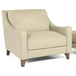 Contemporary Chair with Tapered Wood Legs