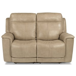 Power Reclining Love Seat with Power Headrest and Adjustable Lumbar