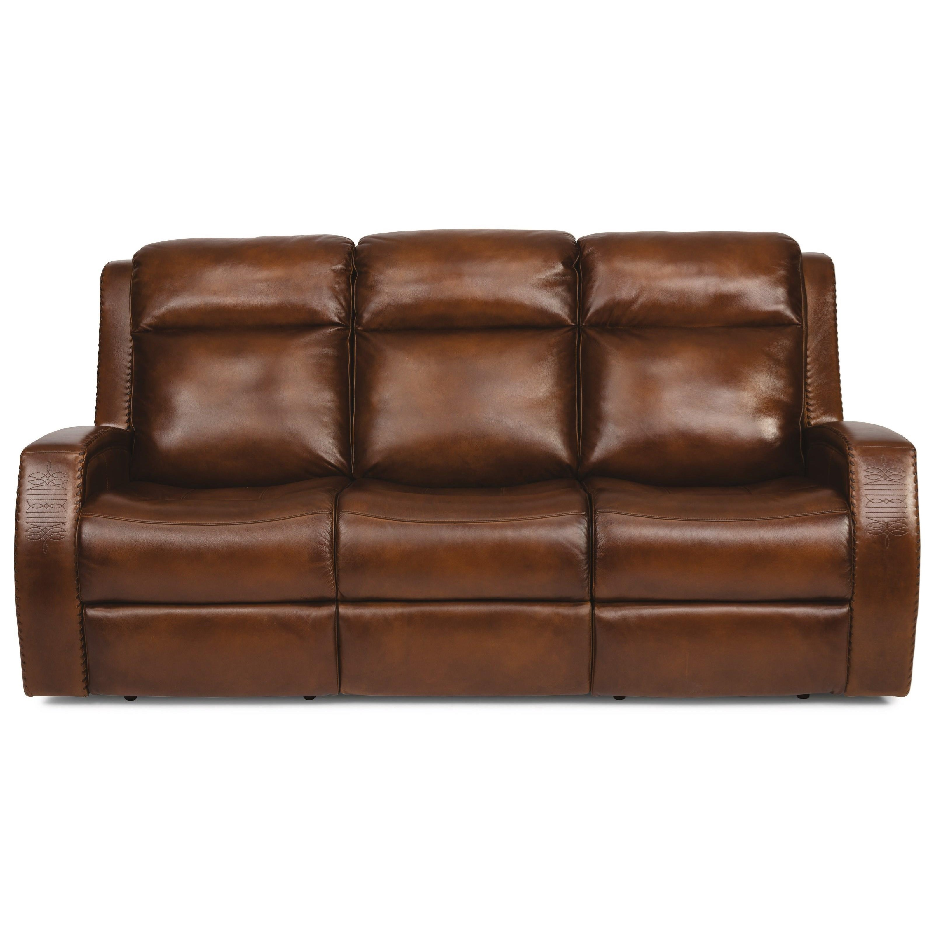 Latitudes - Mustang Power Reclining Sofa w/ Pwr Headrests by Flexsteel at Miller Waldrop Furniture and Decor