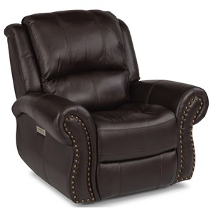Transitional Power Recliner with Power Headrest and Lumbar