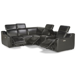 Six Piece Power Reclining Sectional