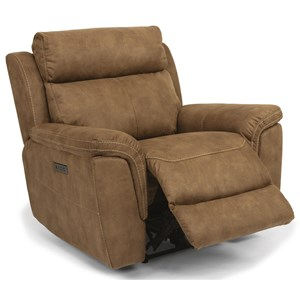 Casual Power Recliner with USB Port and Power Headrest