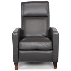 Contemporary Push-Back High-Leg Recliner