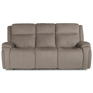 Contemporary Power Reclining Sofa with Power Headrest