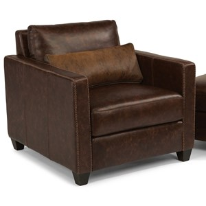 Urban Rustic Chair with Hair-on-Hide Leather Pillow