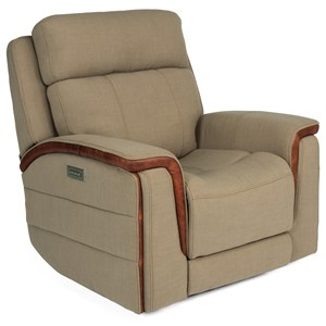 Contemporary Power Headrest Recliner with USB Port