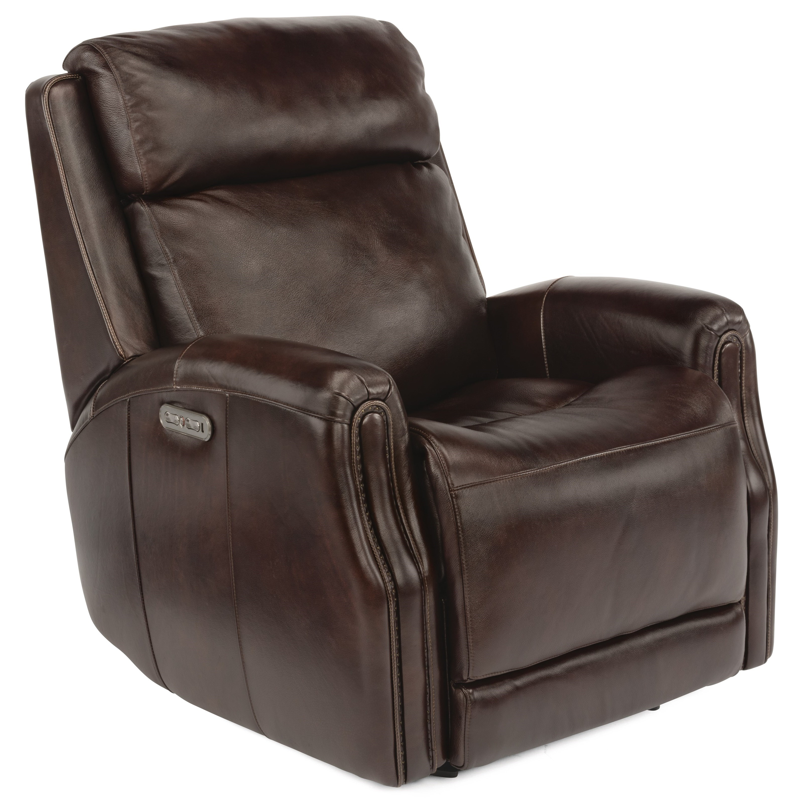 Latitudes - Stanley Power Gliding Leather Recliner by Flexsteel at Williams & Kay
