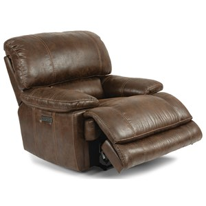 Casual Power Recliner with Power Tilt Headrest and USB Port
