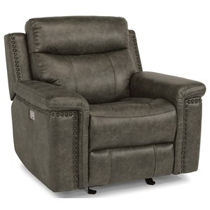 Rustic Power Gliding Recliner with Power Headrests and USB Port