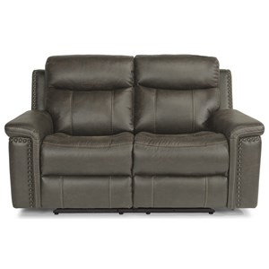 Rustic Power Reclining Love Seat with Power Headrests and USB Ports