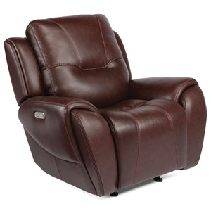 Contemporary Power Headrest Glider Recliner with USB Port