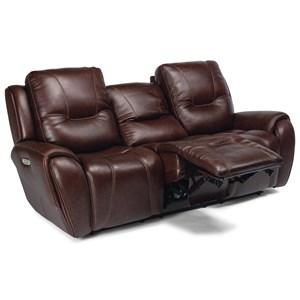 Contemporary Power Headrest Sofa with USB Port