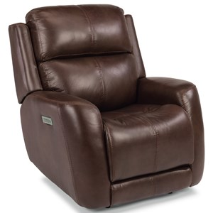 Casual Power Recliner with Power Headrest & Power Adjustable Lumbar Support