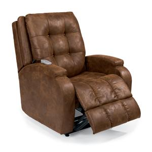 Orion Infinite-Position Lift Recliner with Visco Gel Cushion and Lay-Flat