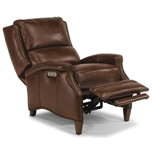 Transitional Power High-Leg Recliner with USB Port