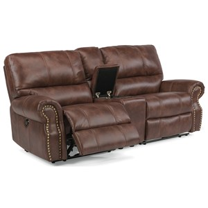Traditional Power Reclining Loveseat with Console and USB Ports