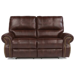 Traditional Power Reclining Loveseat with Nailhead Trim