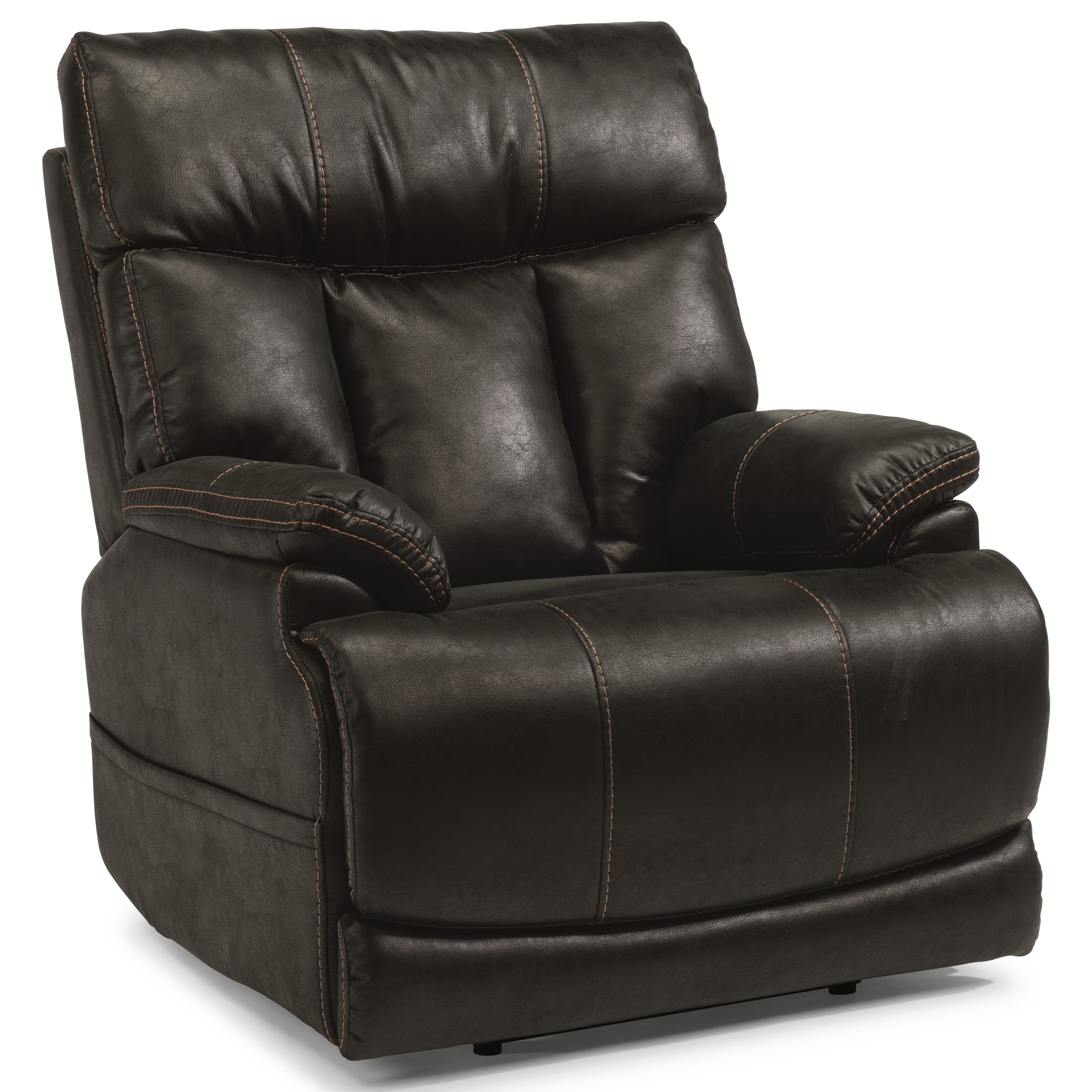 Latitudes-Clive Power Recliner with Power Headrest by Flexsteel at Factory Direct Furniture