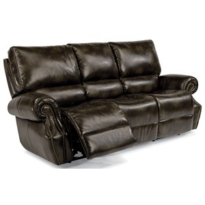Flexsteel Latitudes-Colton Power Rcl Sofa w/ Pwr Headrest