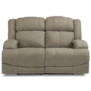 Casual Power Reclining Loveseat with Power Headrests and USB Ports