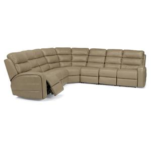 Flexsteel Latitudes-Elliot 5 Pc Power Reclining Sectional Sofa