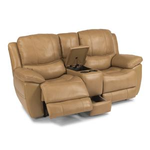 Flexsteel Latitudes-Estella Power Reclining Loveseat w/ Console