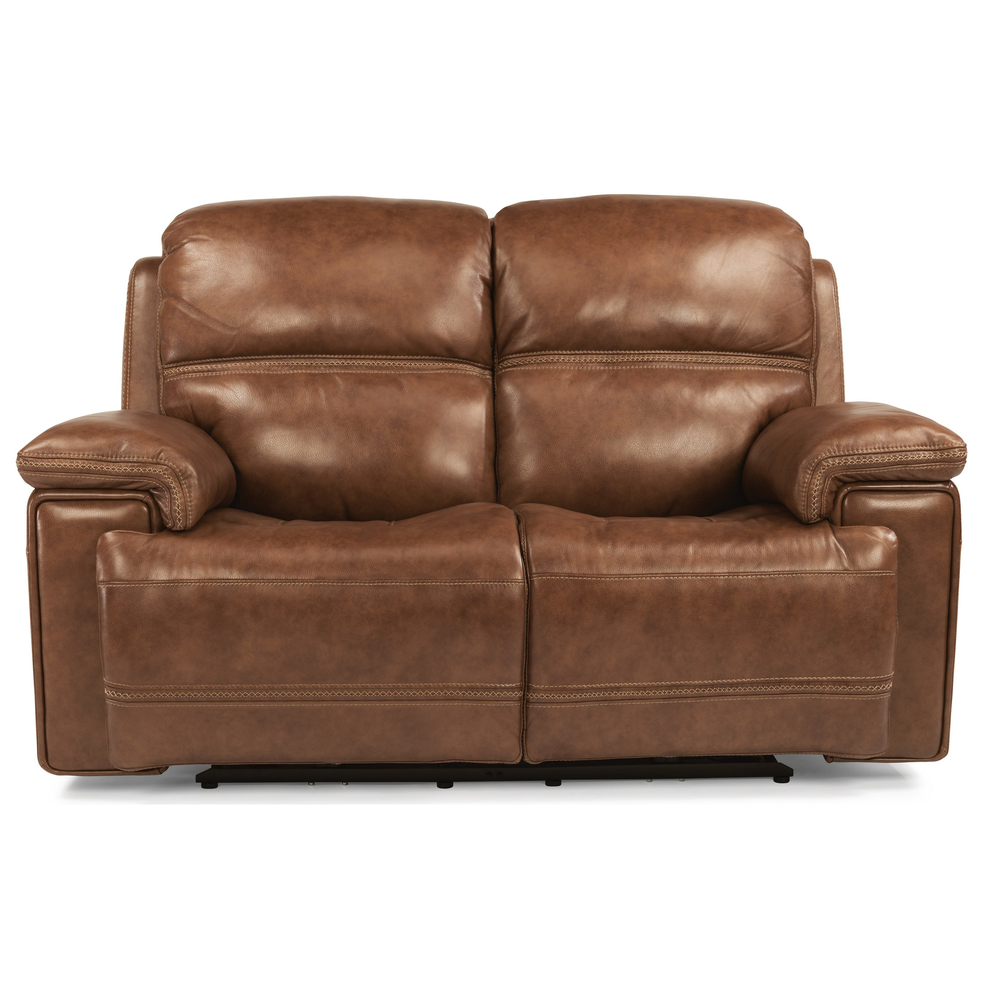 Latitudes-Fenwick Pwr Rcl Loveseat w/ Pwr Headrest by Flexsteel at Miller Waldrop Furniture and Decor