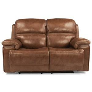 Power Reclining Loveseat with Power Tilt Headrest and USB Port
