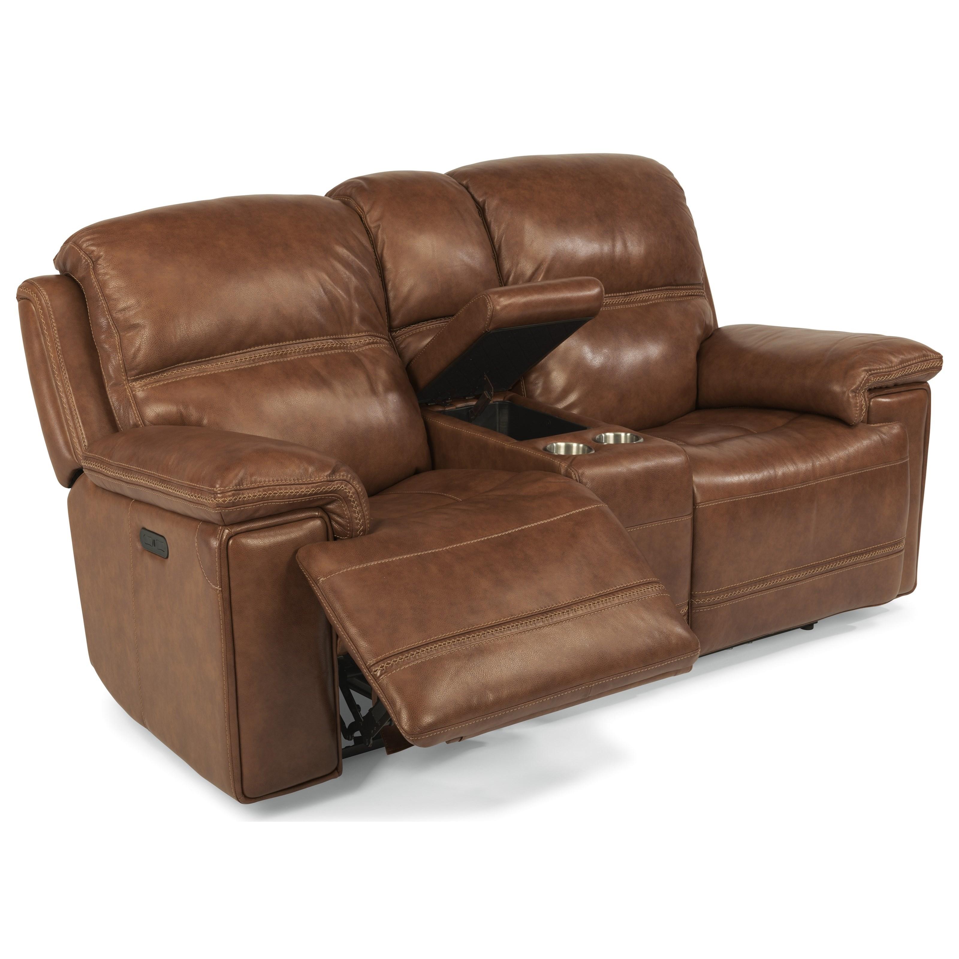 Latitudes-Fenwick Pwr Rcl LS w/ Cnsl & Pwr Hdrst by Flexsteel at Fashion Furniture